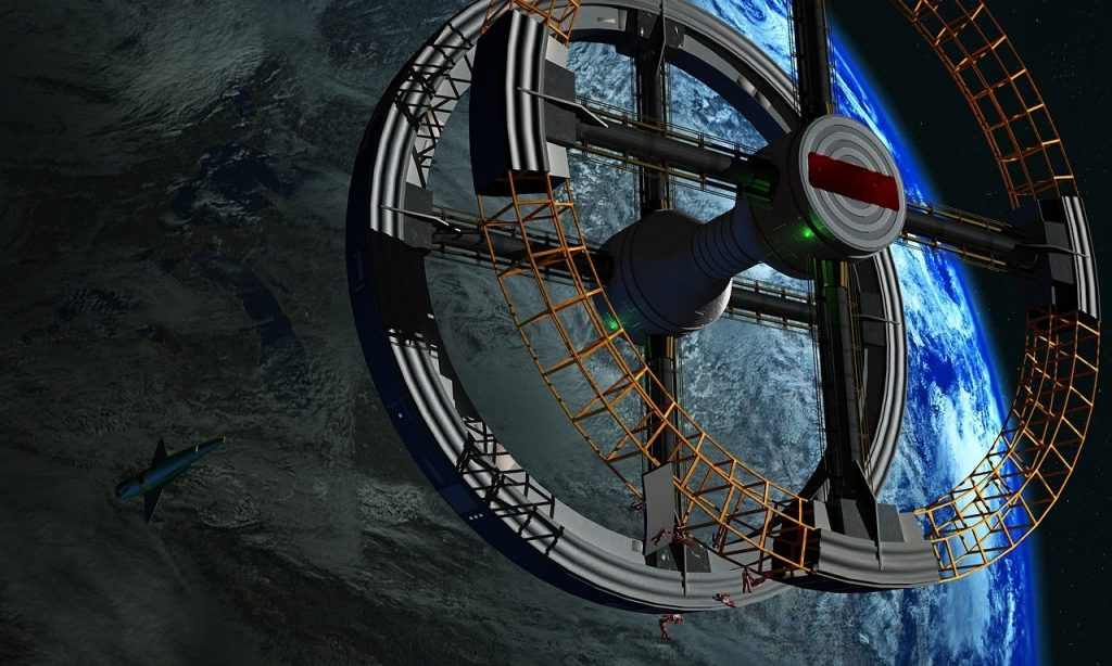 space station, space travel, earth